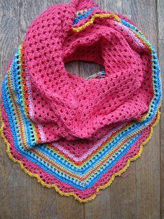 vinexgeluk: Lente omslagdoek Crochet shawl