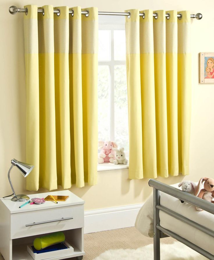 Sweetheart Dim-out Eyelet Curtains Yellow | Eyelet Curtains | Cheap UK Delivery