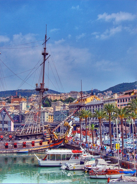 Genoa, Italy a close second favorite city I traveled to in Italy, a major port city for cruises galor!