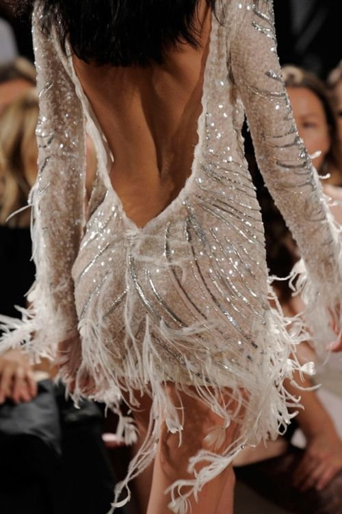 could do without the feathers but love the dress