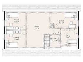 Övervåning - Förslag på planlösning