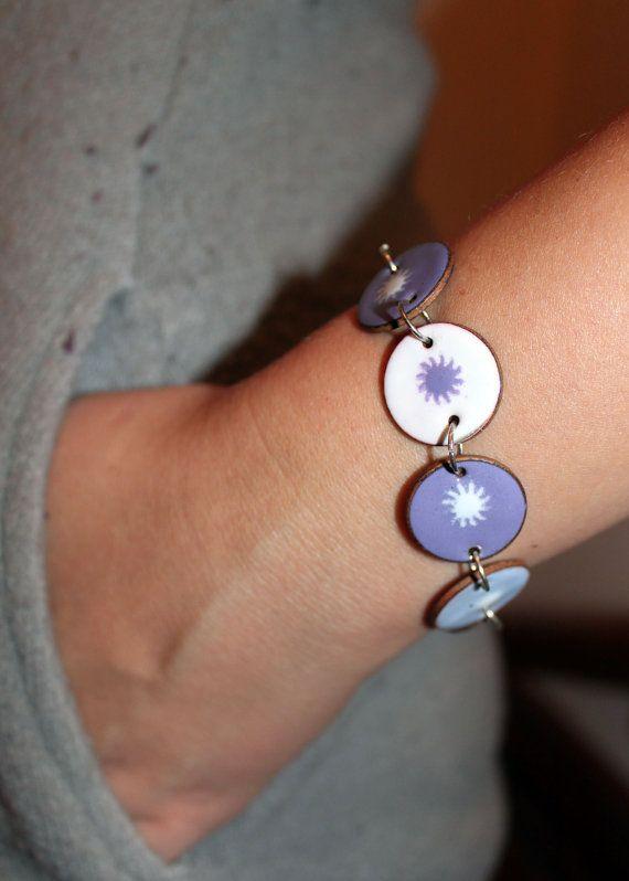 copper enameled penny bracelet