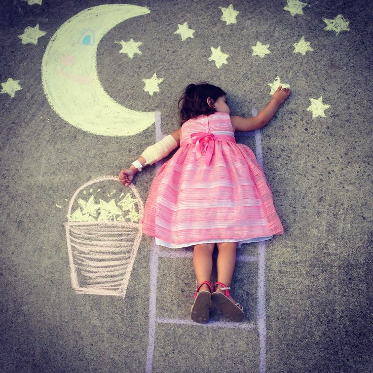 Photography kids craft fun photo ideas chalk drawings