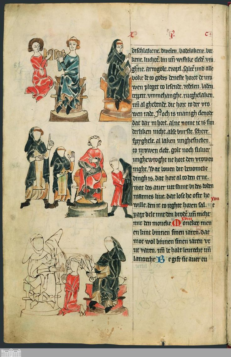A young monk is inducted (receives habit and tonsure) [Sachsenspiegel] [CIM I 410] › Landrecht, erstes Buch