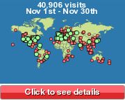 Free Website Counter Showing Visitor Location
