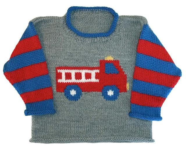 Boys' jersey with fire engine