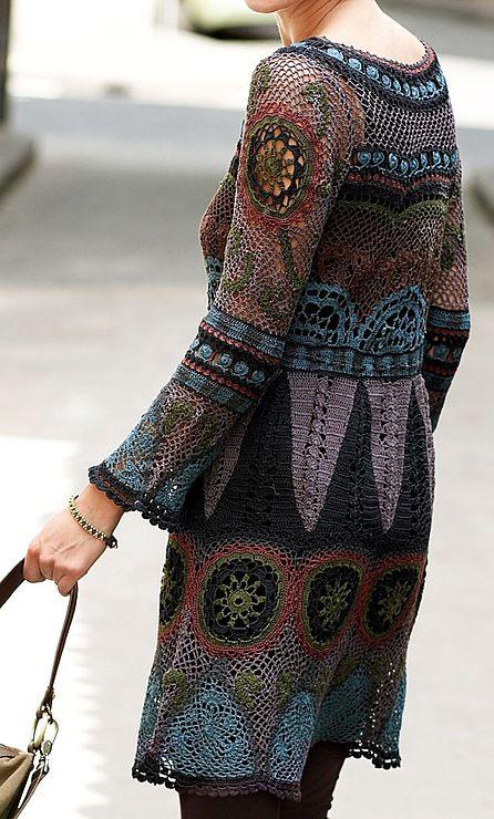 Vestido de crochê muito lindo e diferente
