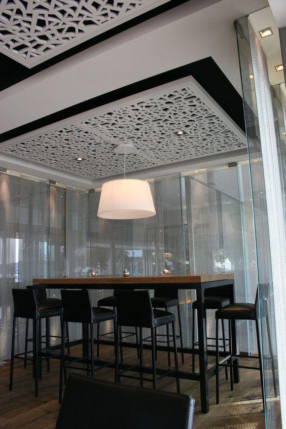 Panneau acoustique en MDF / pour faux-plafond / perforé / pour établissement public - STEAKHOUSE MARINA LACHEN - Bruag: