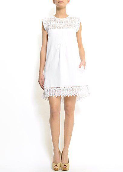 vestido amngo blanco