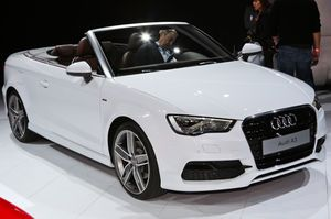 Debuting in the U.S. for the first time is the 2015 Audi A3 Cabriolet, a drop-top version of the brand's compact car that has been sold in Europe since 2008. The A3 Cabriolet will be sold alongside the A3 sedan and A3 e-tron PHEV, which were also present at the 2013 Los Angeles auto show.