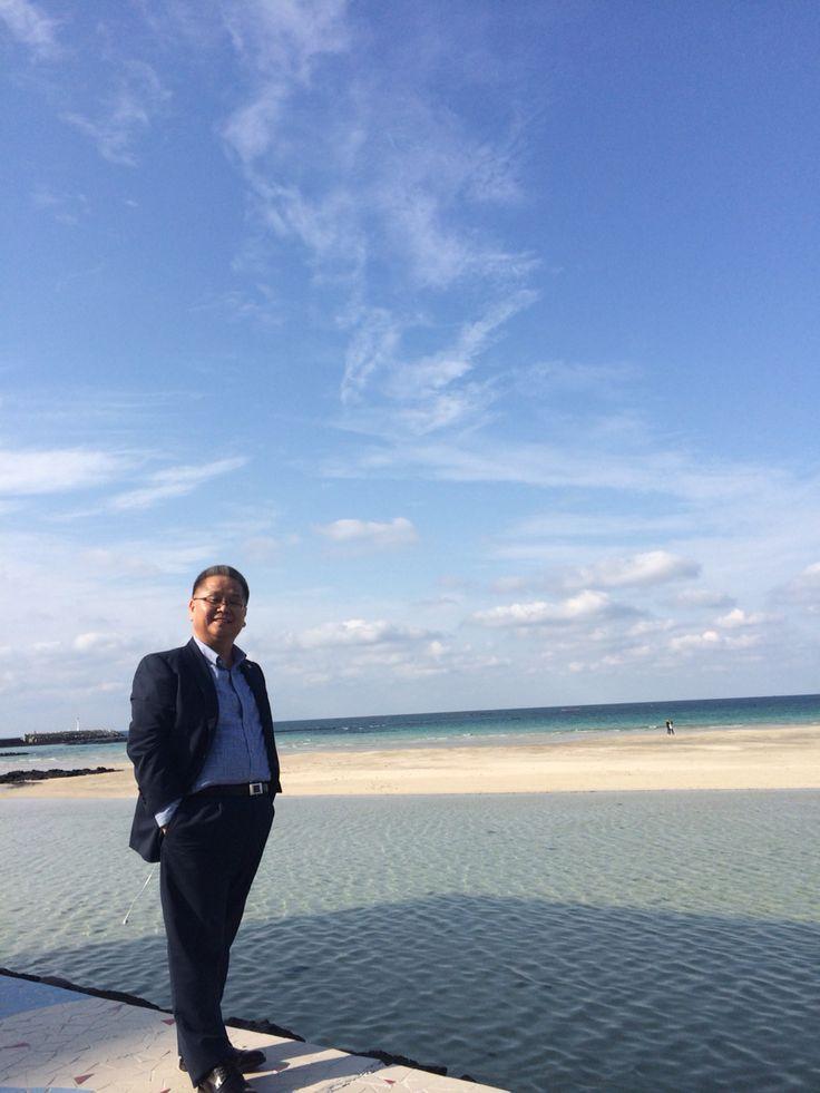 바다를 사랑한 소년 -함덕해수욕장에서- 20151007