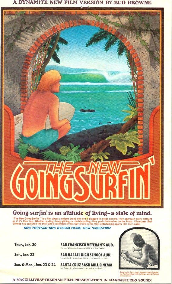 Vintage Surf Movie Handbill-1977-Original-The New by LunadaSurf