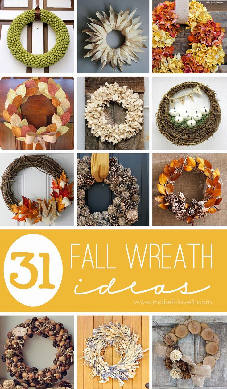 31 DIY Fall Wreath Ideas 85 best