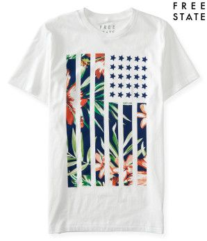 Free State Hibiscus Flag Graphic T -