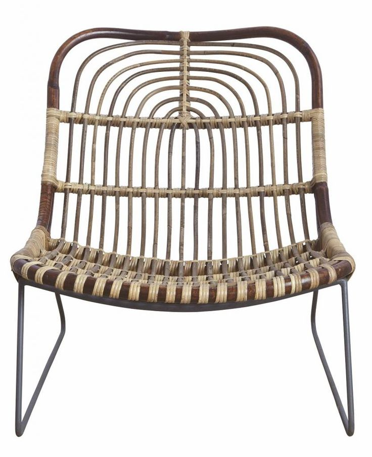 Retro! This lounge chair by House Doctor is specially made to relax. The metal frame and Rattansitz fit great too in a modern decor.