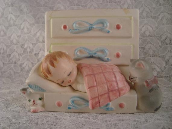 Baby Nursery Planter Vintage Baby Shower Porcelain by OmasBasement, $12.00