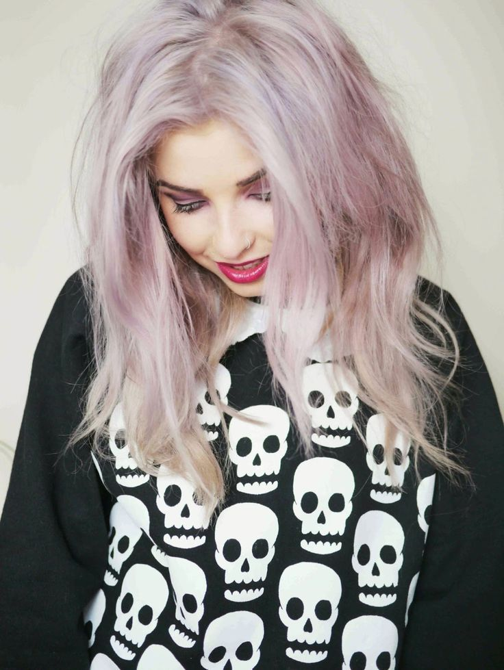 Helen Anderson purple hair #grunge #hair