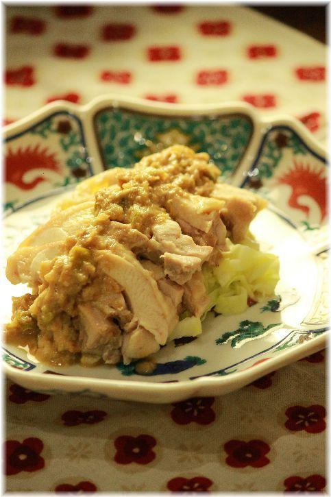 茹で鶏バンバンジー。 と 鶏スープ(シンプルもも肉編)。 |よめ膳@YOMEカフェ