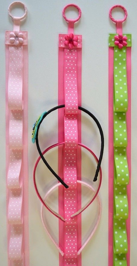 Ribbon Headband Holder- these would be so easy to make. Perfect for hair bows too - The Beauty Thesis
