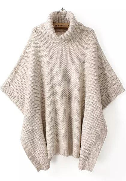 Shop Apricot High Neck Batwing Sleeve Knit Sweater online. Sheinside offers Apricot High Neck Batwing Sleeve Knit Sweater & more to fit your fashionable needs. Free Shipping Worldwide!