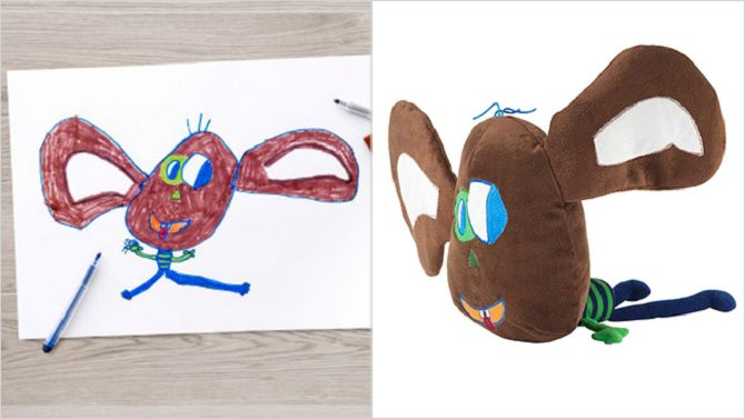 IKEA Turns Kids Drawings Into Real Toys For Charity