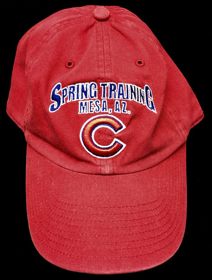 Spring Training - Mesa, AZ. - Chicago Cubs - Adjustable Cap by CoryCranksOutHats on Etsy