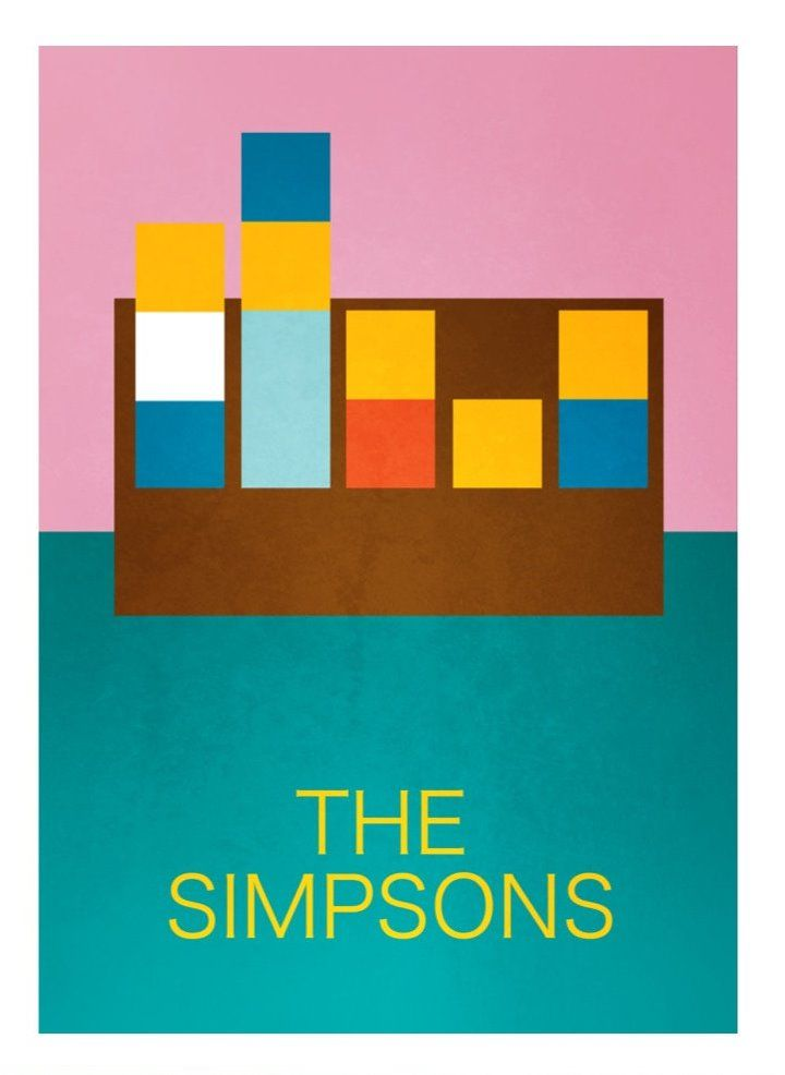 The Simpsons (1989– ) ~ Minimal TV Series Poster by David Peacock