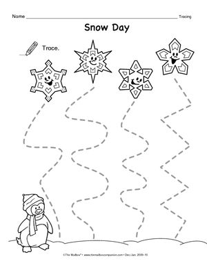 tracing lines preschool worksheets google search tracing practice pinterest search snow. Black Bedroom Furniture Sets. Home Design Ideas