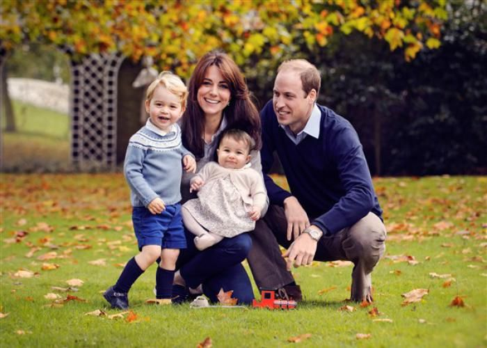 On Dec. 18, 2015, Kensington Palace shared a photo of Prince William, Duchess Kate and their children, Prince George and Princess Charlotte, taken in late October. The fall shot, which served as the image for their Christmas card, is truly picture-perfect, and Princess Charlotte looks like one happy baby!