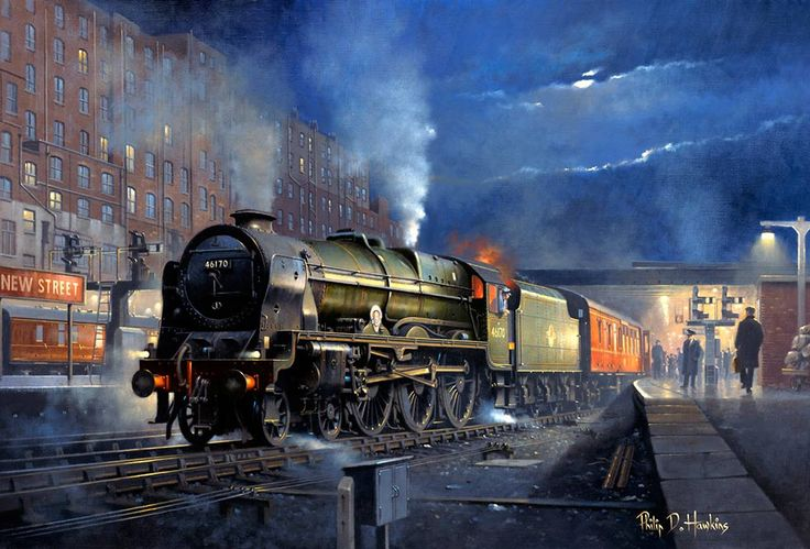 Painting of New Street station