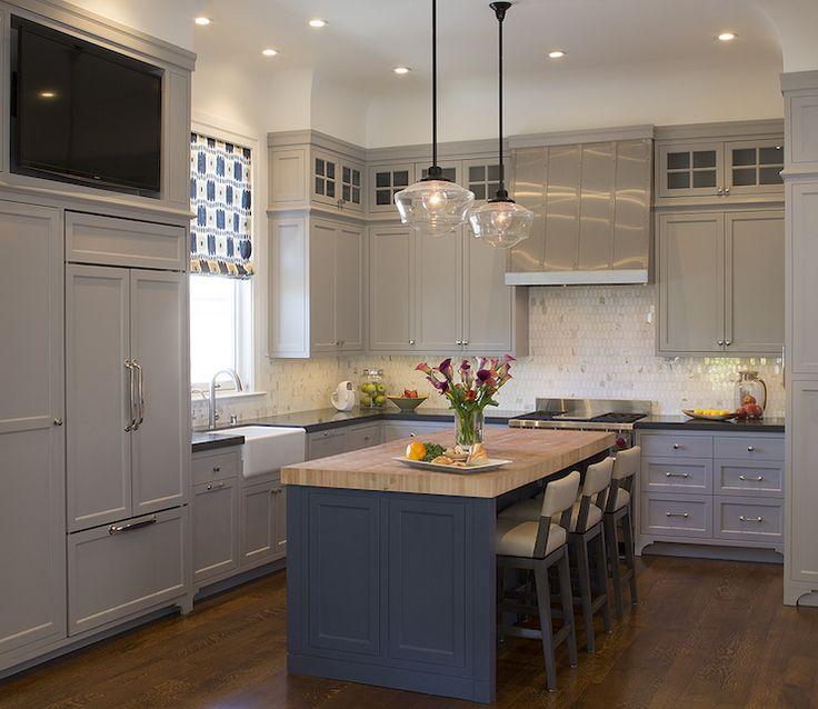 Kitchen Lighting Ideas For Your Beautiful Kitchen: 25+ Best Ideas About Blue Kitchen Island On Pinterest