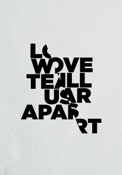 Love will tear us apart - Lettering by Three Of The Possessed — Designspiration