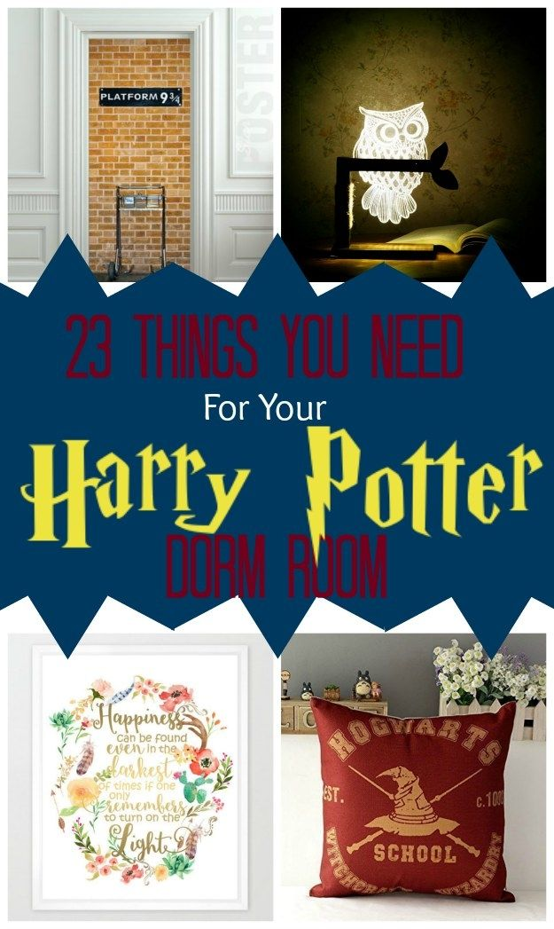 23 Things You Need For A Magical Harry Potter Dorm Room