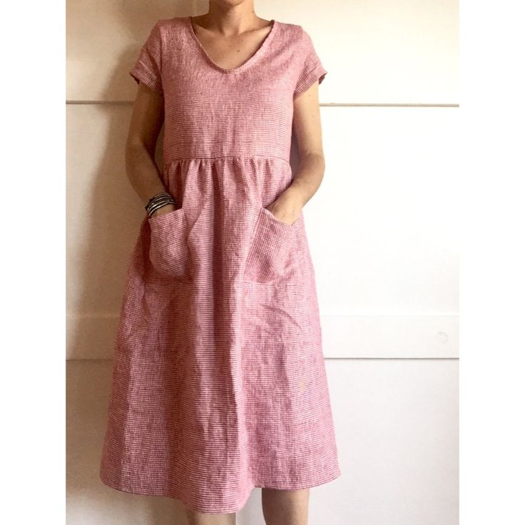 Linen day dress, Pyne and Smith