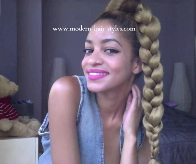 Remarkable 17 Best Images About Jumbo Braid Ponytail On Pinterest Her Hair Short Hairstyles For Black Women Fulllsitofus