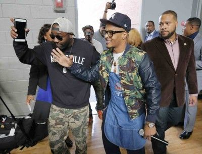 Atlanta rapper Tip TI Harris hosts a Thanksgiving turkey giveaway for seniors at Adamsville Recreation Center for his 12th consecutive year