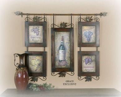 vintage wine decor love tuscany theme