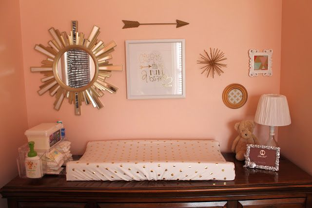 Notes from the Nelsens: Coral & Gold Nursery Reveal