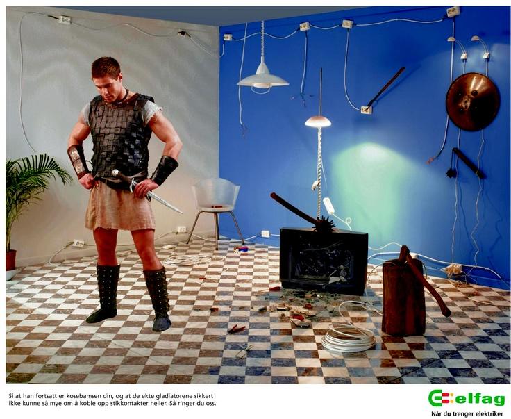 Ridder annonsen for elfag. Foto Billy Bonkers