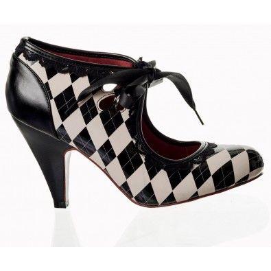 Chaussures Escarpins Pin-Up Rockabilly 50's Vintage Good Vibrations
