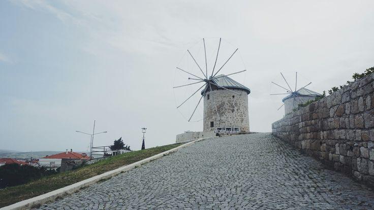 windmill in Alacati, turkey