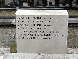 #Tumba de Natalia Ginzburg (5, fila 99, sección 20) y de la familia de su segundo marido, Gabriele Baldini. #tumbasdeescritoras #NataliaGinzburgTomb #cementerios #CimeteroMonumentalealVerano