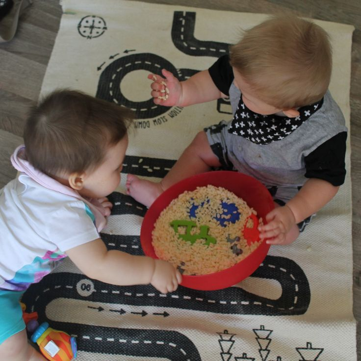 Check it out! baby sensory play with rice bubbles