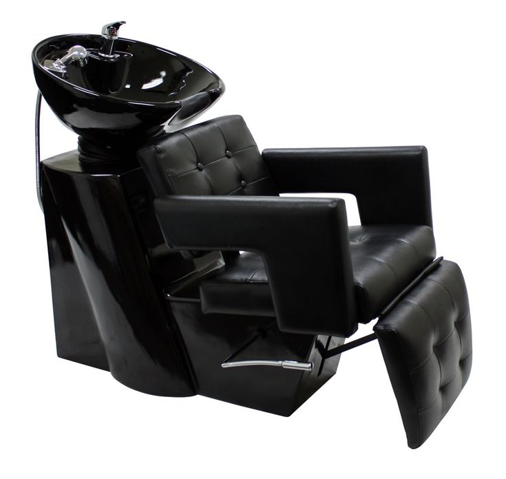 Cc5595 shampoo chair with footrest attachment and bowl