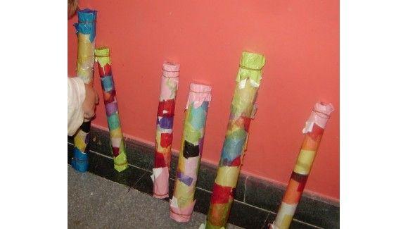 Cómo hacer un palo de lluvia casero para niños - Juntines.com