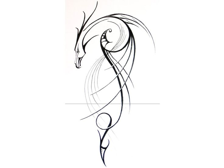 Linear Dragon Tattoo Design Art Picture HD Desktop Free Mobile #7882983748 Wallpaper