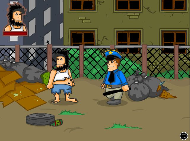 Hobo - Play as the likes of a bum! Punch, spit, kick, and fart on your enemies! This was the first from the Hobo series of Flash games, which now consists of 7 titles and growing. http://www.pctechauthority.com/online-game-arcade/play-hobo.html