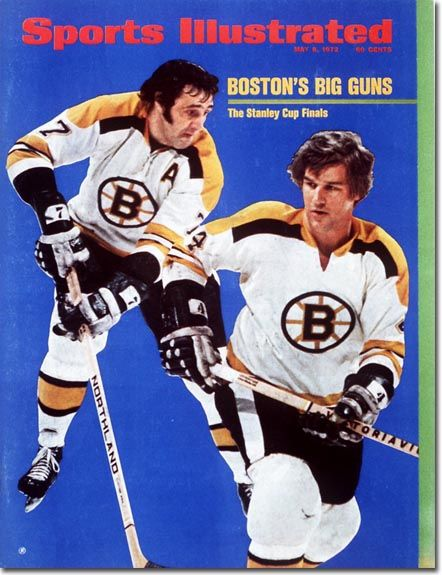 May 8, 1972 - Bobby Orr and Phil Esposito, Boston Bruins.