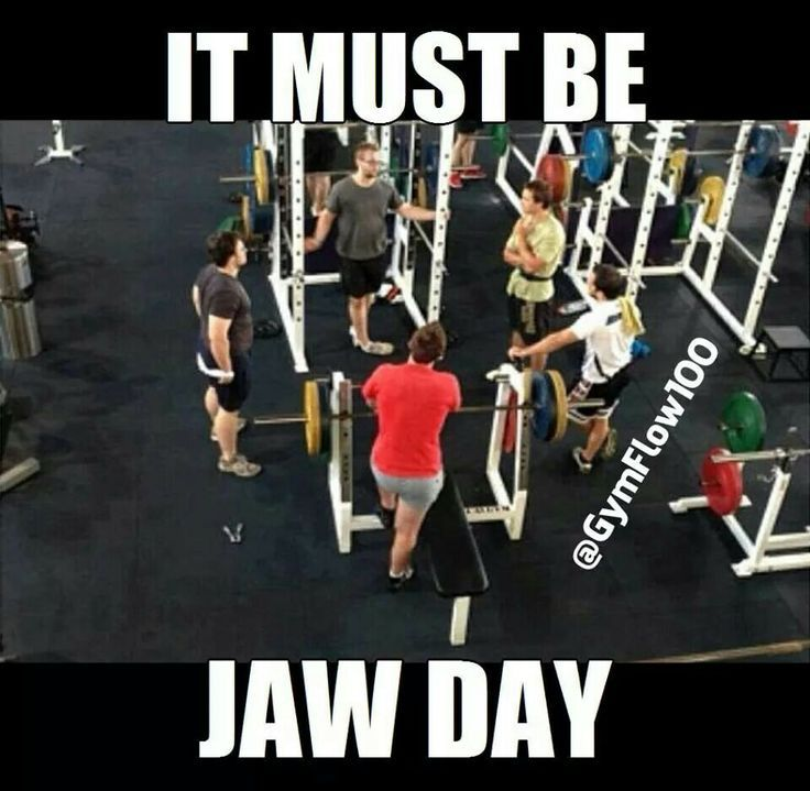 LOL jaw day anyone? Quit yappin' and workout! #fitness #motivation #gymhumor…