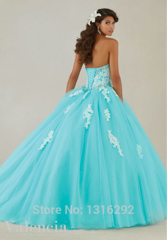 Tu Vestido de 15 Años: Vestidos de 15 Años - Color Celeste